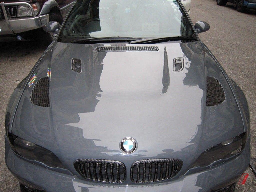 Bmw 2001 M3 E46 Vor010 Carbon Fiber Front Hood Bonnet