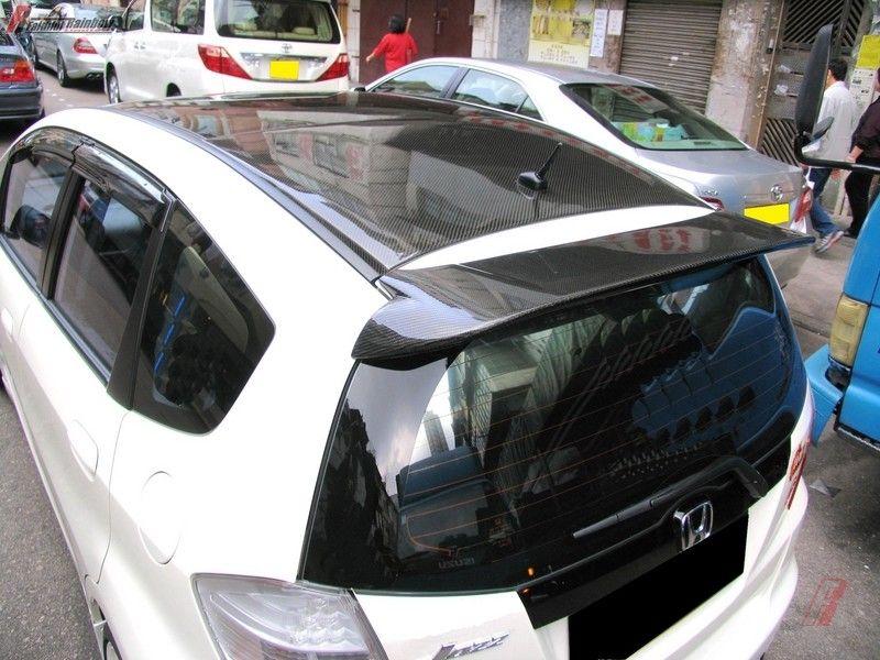 Honda 2008-10 Jazz Fit GE8 carbon fiber overlay hardtop
